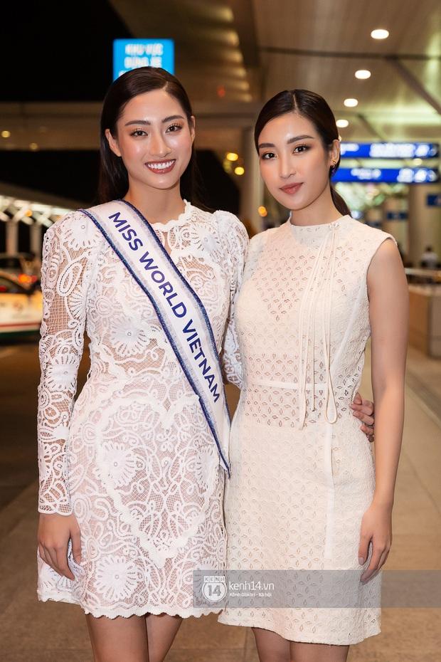 Đỗ Mỹ Linh, Tiểu Vy và dàn mỹ nhân gây náo loạn sân bay khi tiễn Thùy Linh lên đường đi Anh dự thi Miss World - Ảnh 5.