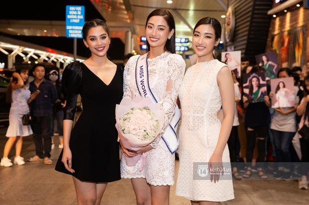 Đỗ Mỹ Linh, Tiểu Vy và dàn mỹ nhân gây náo loạn sân bay khi tiễn Thùy Linh lên đường đi Anh dự thi Miss World - Ảnh 6.