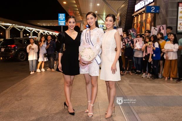 Đỗ Mỹ Linh, Tiểu Vy và dàn mỹ nhân gây náo loạn sân bay khi tiễn Thùy Linh lên đường đi Anh dự thi Miss World - Ảnh 7.
