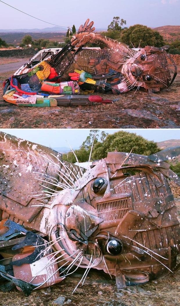 Những tác phẩm nghệ thuật tuyệt mỹ được tạo ra từ rác thải khiến ai xem xong cũng phải trầm trồ và suy ngẫm - Ảnh 4.