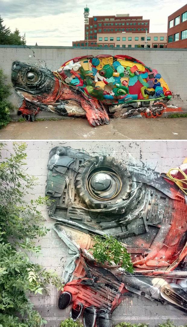 Những tác phẩm nghệ thuật tuyệt mỹ được tạo ra từ rác thải khiến ai xem xong cũng phải trầm trồ và suy ngẫm - Ảnh 5.