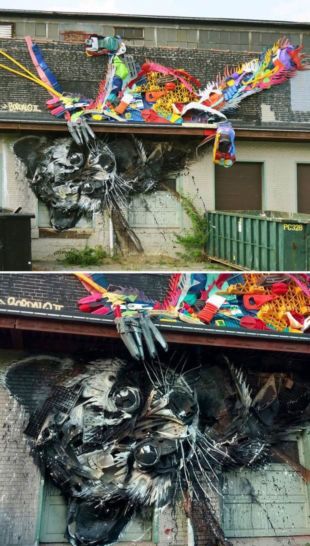 Những tác phẩm nghệ thuật tuyệt mỹ được tạo ra từ rác thải khiến ai xem xong cũng phải trầm trồ và suy ngẫm - Ảnh 6.