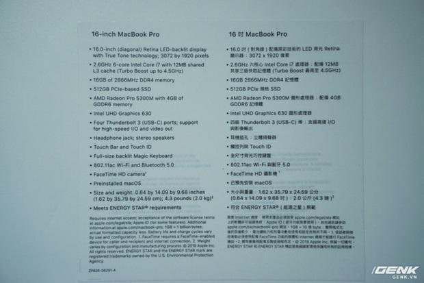 Trên tay MacBook Pro 16: Kích thước gần tương đương Pro 15, viền màn hình mỏng, bàn phím lẫy cắt kéo gõ phê tay hơn - Ảnh 10.