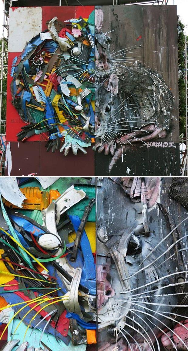 Những tác phẩm nghệ thuật tuyệt mỹ được tạo ra từ rác thải khiến ai xem xong cũng phải trầm trồ và suy ngẫm - Ảnh 8.