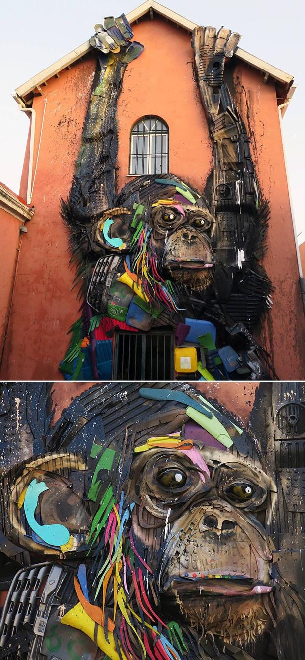 Những tác phẩm nghệ thuật tuyệt mỹ được tạo ra từ rác thải khiến ai xem xong cũng phải trầm trồ và suy ngẫm - Ảnh 9.