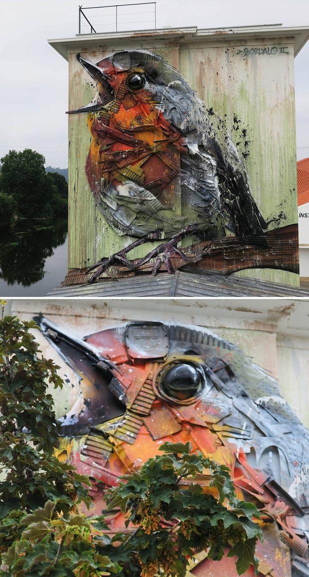 Những tác phẩm nghệ thuật tuyệt mỹ được tạo ra từ rác thải khiến ai xem xong cũng phải trầm trồ và suy ngẫm - Ảnh 13.