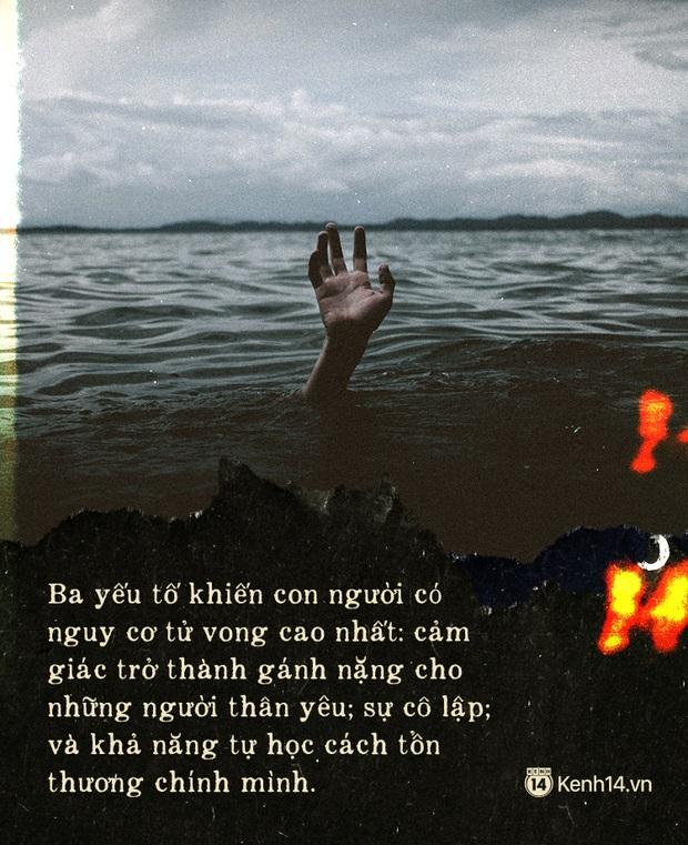 3 nguyên nhân khiến con người ta tìm đến cái chết: Cảm giác trở thành gánh nặng, sự cô lập và học cách tự làm tổn thương chính mình - Ảnh 2.