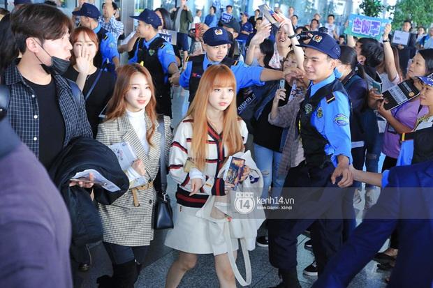 Dàn mỹ nhân LOONA xinh như búp bê, Zico kín mít, SNUPER thoáng mệt mỏi giữa biển fan bao vây sân bay Nội Bài - Ảnh 8.