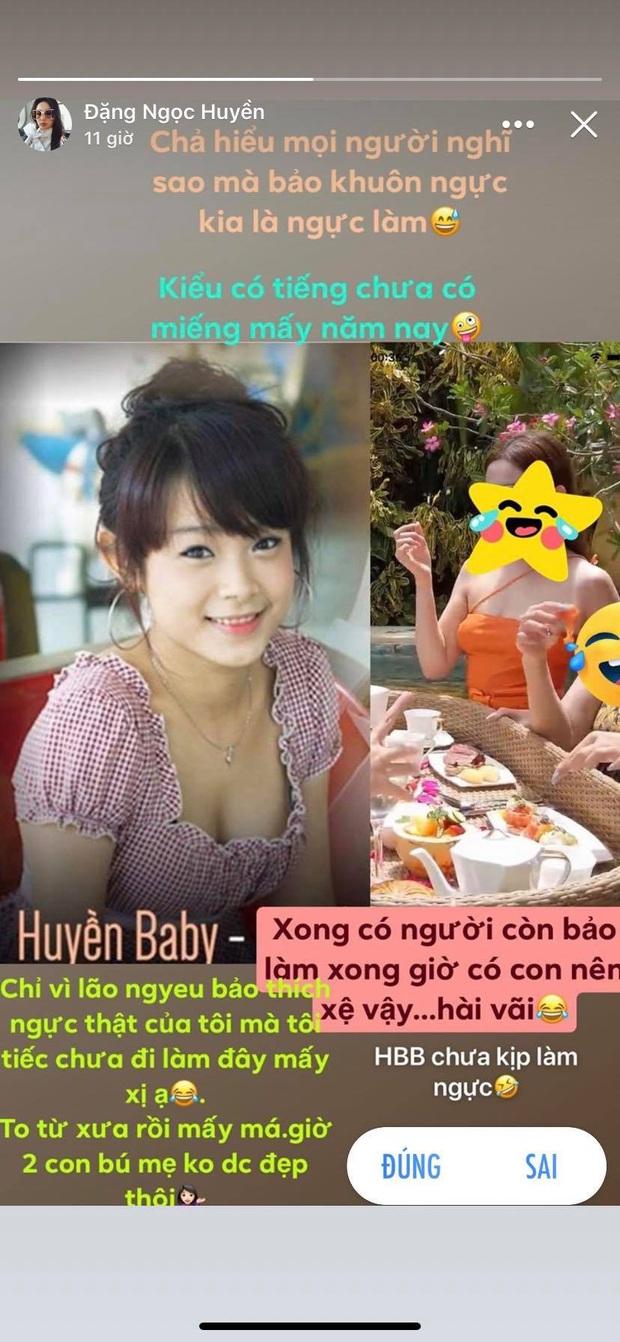 Huyền Baby đáp trả tin đồn dao kéo vòng 1: Cũng muốn lắm mà chồng thích ngực thật nên tiếc chưa đi làm - Ảnh 2.