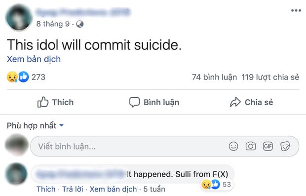 Rùng mình lời tiên tri chuẩn xác về việc Goo Hara qua đời của một tài khoản facebook, đã từng tiên đoán cả sự ra đi của Sulli - Ảnh 2.