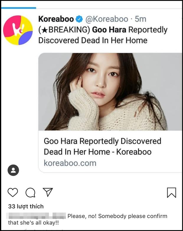 Netizen thế giới bàng hoàng trước tin Goo Hara đột ngột qua đời vào chiều nay: Làm ơn, ở lại với chúng tôi đi! - Ảnh 4.