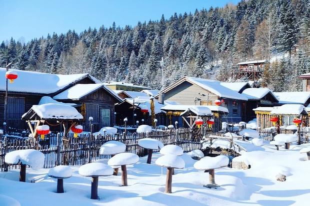 """Ngôi làng tuyết trắng đẹp không thua phim kiếm hiệp ở Trung Quốc, nhìn ảnh trên mạng và ngoài đời quả xứng tầm """"cực phẩm"""" - Ảnh 26."""