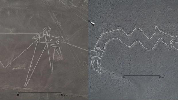 Bí ẩn chỉ thấy từ ảnh chụp vệ tinh: Một loạt hình vẽ siêu to khổng lồ nằm đột ngột giữa sa mạc Peru - Ảnh 3.