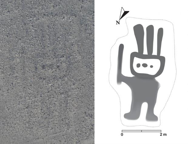 Bí ẩn chỉ thấy từ ảnh chụp vệ tinh: Một loạt hình vẽ siêu to khổng lồ nằm đột ngột giữa sa mạc Peru - Ảnh 4.