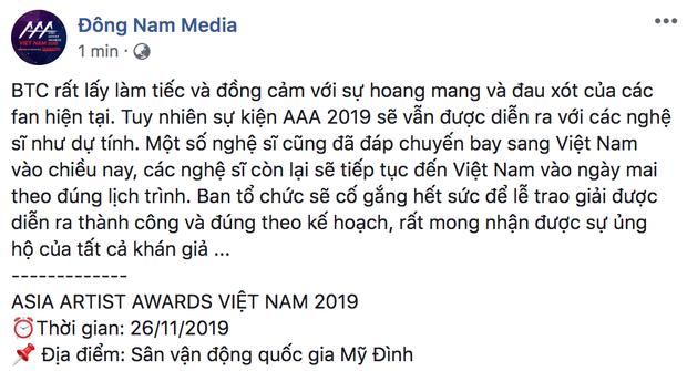 BTC chính thức lên tiếng sau khi netizen lo lắng AAA 2019 có nguy cơ huỷ lịch trình vì Goo Hara qua đời đột ngột - Ảnh 3.
