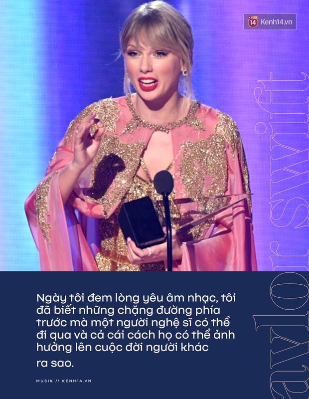 Taylor Swift rơm rớm phát biểu nhận giải Nghệ sĩ của thập kỷ: Mặc bao thị phi, hôm nay là ngày vinh quang nhất trong sự nghiệp của Rắn Chúa - Ảnh 4.