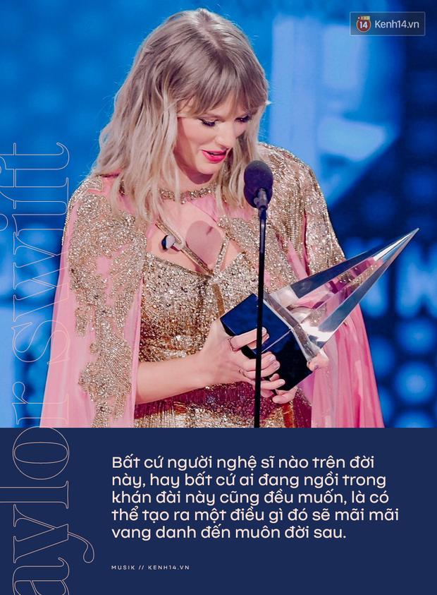 Taylor Swift rơm rớm phát biểu nhận giải Nghệ sĩ của thập kỷ: Mặc bao thị phi, hôm nay là ngày vinh quang nhất trong sự nghiệp của Rắn Chúa - Ảnh 5.
