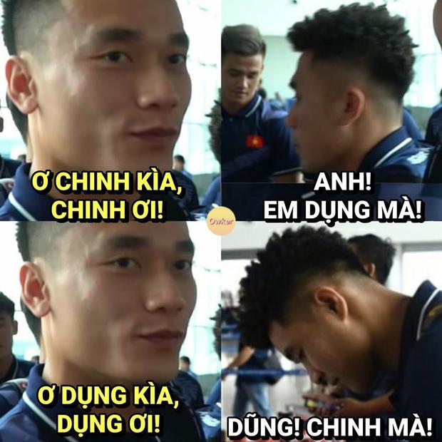 Hà Đức Chinh lập kỉ lục 3/6 bàn thắng nhưng mái tóc xoăn tít lại chiếm trọn spotlight: Mới nhìn cứ tưởng Huyme ra trận chứ! - Ảnh 4.