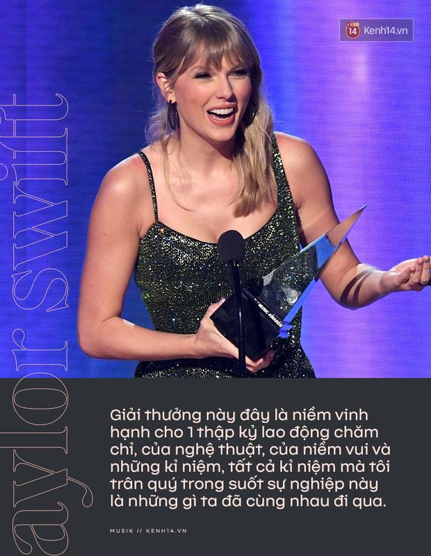 Taylor Swift rơm rớm phát biểu nhận giải Nghệ sĩ của thập kỷ: Mặc bao thị phi, hôm nay là ngày vinh quang nhất trong sự nghiệp của Rắn Chúa - Ảnh 7.