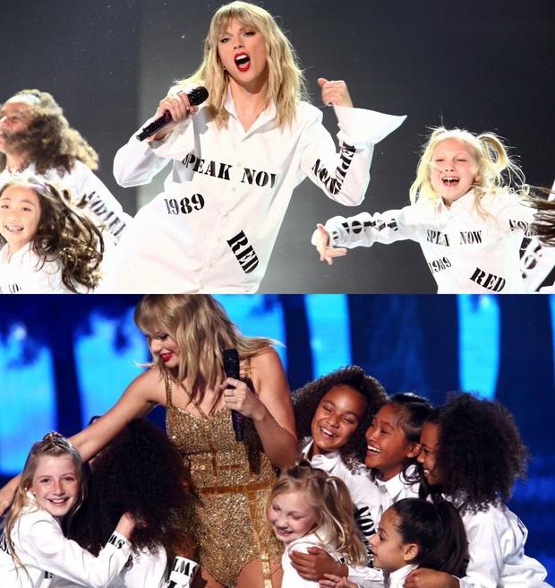 Từ chiếc áo cho đến cây đàn piano khắc chữ tinh xảo, Taylor Swift đều gửi gắm thông điệp kêu gào cho số phận 6 album cũ tại AMAs 2019? - Ảnh 5.