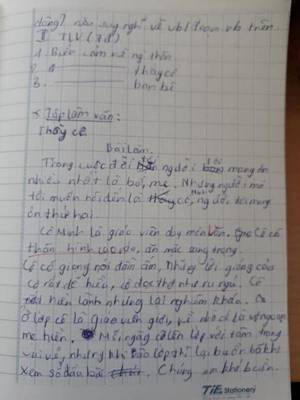 Bài văn biểu cảm về cô giáo khiến người đọc cười ra nước mắt - Ảnh 1.