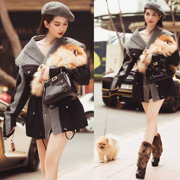 Street style sao Việt tuần qua: Ngọc Trinh thời trang phang thời tiết, Sĩ Thanh lên đồ đơn giản nhưng sang hơn mấy chân kính - Ảnh 1.