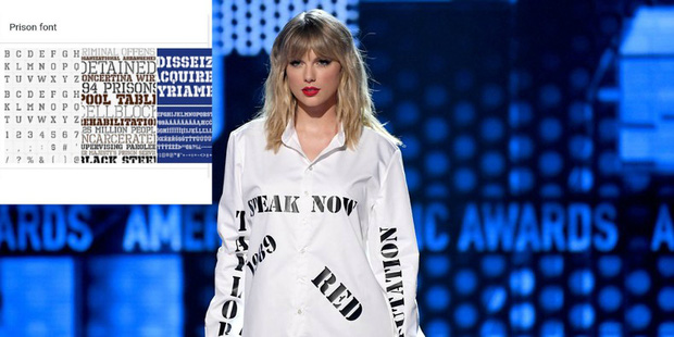 Từ chiếc áo cho đến cây đàn piano khắc chữ tinh xảo, Taylor Swift đều gửi gắm thông điệp kêu gào cho số phận 6 album cũ tại AMAs 2019? - Ảnh 3.