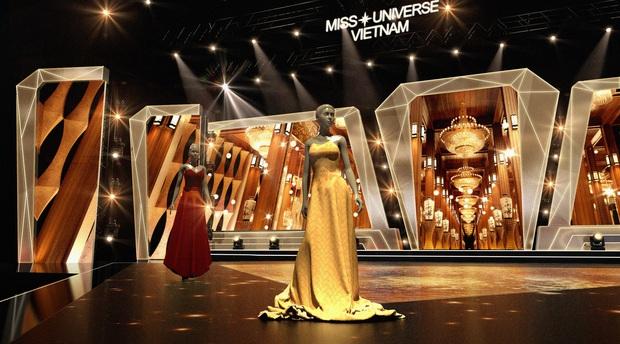 Chính thức hé lộ sân khấu chung kết Hoa hậu Hoàn vũ Việt Nam: Lần đầu tiên xuất hiện đường catwalk dài 60m chuẩn quốc tế! - Ảnh 5.