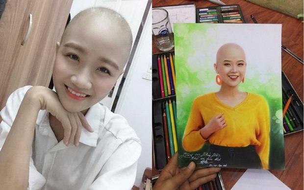 Cùng cảnh mắc ung thư, họa sĩ 9x vẽ tranh cổ vũ nữ sinh Đại học Ngoại thương - Ảnh 1.
