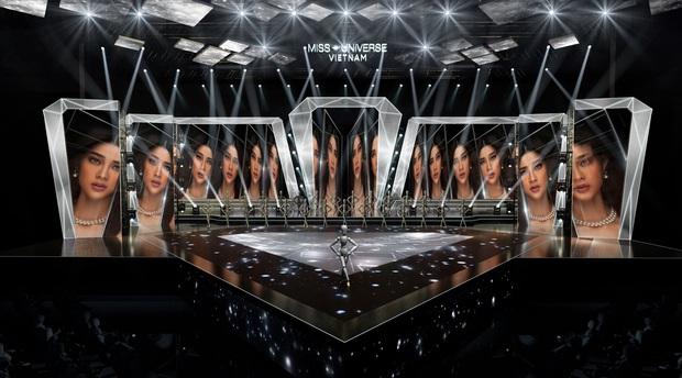 Chính thức hé lộ sân khấu chung kết Hoa hậu Hoàn vũ Việt Nam: Lần đầu tiên xuất hiện đường catwalk dài 60m chuẩn quốc tế! - Ảnh 3.