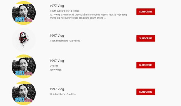 1977 Vlog bị nhái hàng loạt trên YouTube: Hết trò kiếm fame nên bôi ra 1997, 1777 Vlog để đó cho vui? - Ảnh 2.