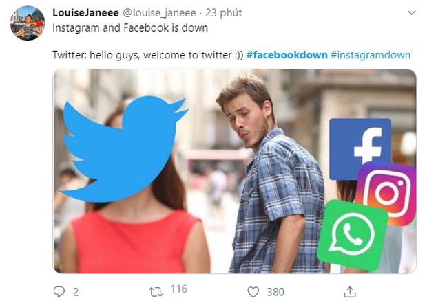 Dân mạng thế giới làm gì khi Facebook sập: Rục rịch chuyển nhà sang Twitter, nhấm nháp ít meme cho đời vui vẻ! - Ảnh 2.