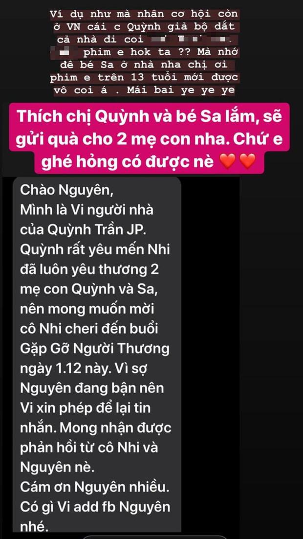 Quản lý tiết lộ Diệu Nhi là một trong những khách mời nổi tiếng được mời đến tham dự buổi off-fan của Quỳnh Trần JP - Ảnh 2.