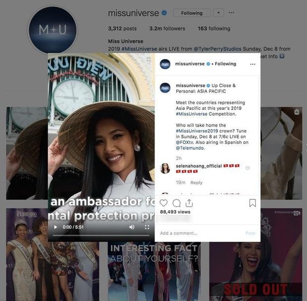 Hoàng Thuỳ khiến khán giả nở mặt khi xuất hiện nổi bật trên Instagram hơn 3 triệu follow của Miss Universe - Ảnh 1.