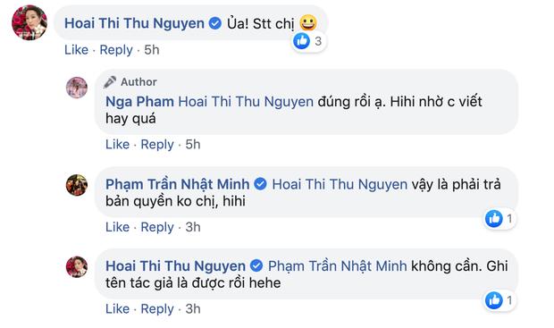 Mina Phạm bị phát hiện dùng status của hoa hậu Thu Hoài không ghi nguồn, đại gia Minh Nhựa phải vào chữa cháy giúp vợ - Ảnh 3.