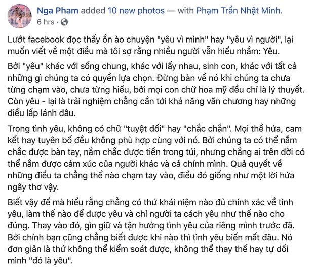 Mina Phạm bị phát hiện dùng status của hoa hậu Thu Hoài không ghi nguồn, đại gia Minh Nhựa phải vào chữa cháy giúp vợ - Ảnh 2.