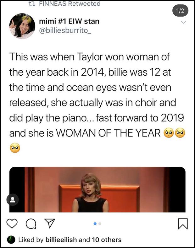 """""""Thánh tiên tri"""" Taylor Swift: Năm 2014 buông mồm nói 1 câu mà đoán trúng phóc Billie Eilish sẽ giành giải thưởng Người Phụ Nữ Của Năm? - Ảnh 4."""