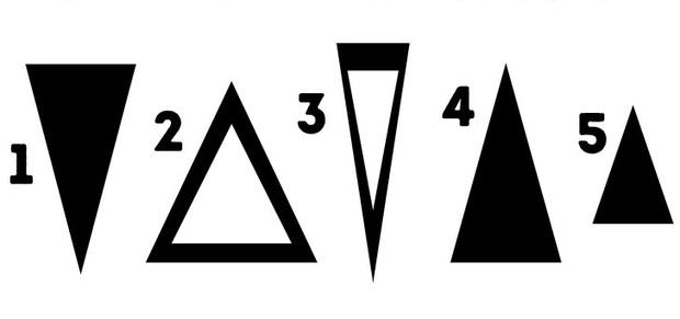 Chọn lấy một hình tam giác mình thích trong ảnh này, nó sẽ tiết lộ sự thật về tính cách đang ẩn chứa bên trong bạn - Ảnh 1.