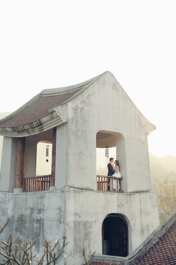 Trọn bộ ảnh cưới của Hoàng Oanh và chồng Tây: Siêu ngọt ngào, đẹp như thước phim điện ảnh  - Ảnh 7.