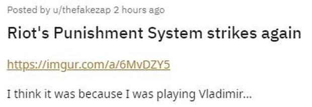 LMHT: Gõ mỗi chữ GG, game thủ này cũng bất ngờ bị Riot Games khóa tài khoản 14 ngày - Ảnh 1.