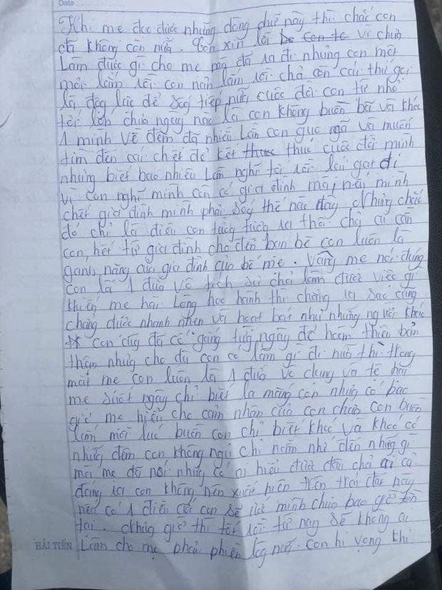 Xót xa những dòng thư cuối cùng cô bé 16 tuổi để lại cho bố mẹ trước khi nhảy cầu tự tử vì áp lực gia đình: Nếu có 1 điều ước con sẽ ước mình chưa bao giờ tồn tại - Ảnh 1.