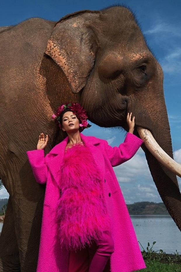 Hoàng Thùy diện đồ màu hồng chóe ngày đầu thi Miss Universe 2019, lấy hên bằng cách diện lại áo của HHen Niê - Ảnh 4.