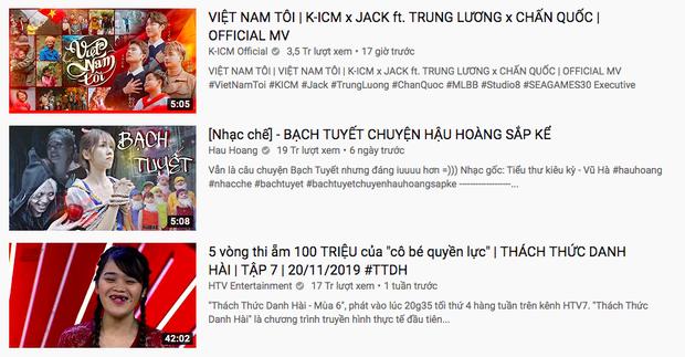 Tròn đúng 17 tiếng, Việt Nam Tôi của Jack và K-ICM chính thức hạ gục Hậu Hoàng để giữ vị trí #1 trending Youtube - Ảnh 2.