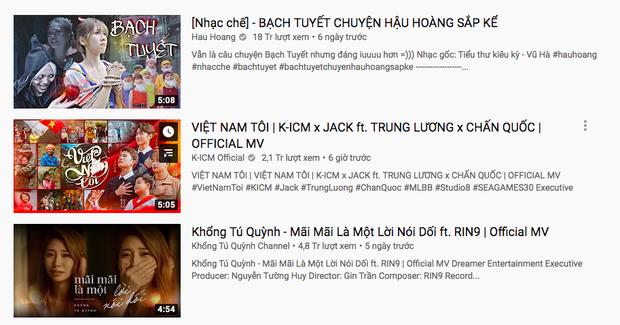 Sau lượt xem công chiếu tụt dốc, fan của Jack và K-ICM sửa sai đưa Việt Nam Tôi lên thẳng #2 trending Youtube chỉ sau 12 tiếng - Ảnh 2.