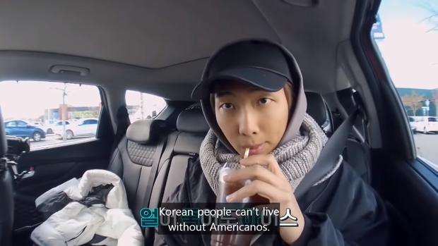 RM (BTS) tiết lộ: Americano chính là thức uống quốc dân của người Hàn Quốc - Ảnh 1.