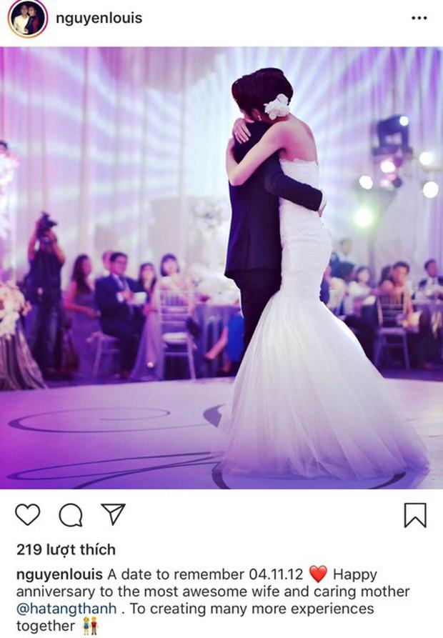 Louis Nguyễn chia sẻ khoảnh khắc hiếm trong hôn lễ 7 năm trước, hết lời khen ngợi Hà Tăng nhân kỷ niệm ngày cưới - Ảnh 1.
