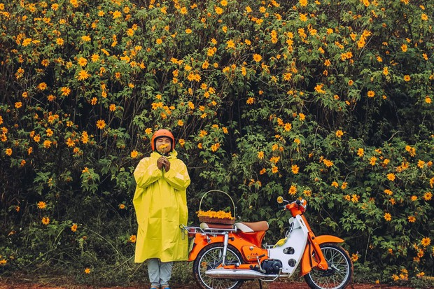 Bất chấp trời mưa, chàng photographer cho ra đời bộ ảnh chụp cùng hoa dã quỳ với concept có 1-0-2 khiến dân tình bấn loạn - Ảnh 7.