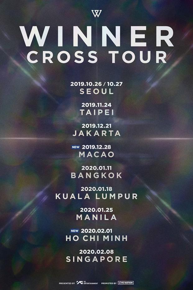 NÓNG: WINNER sẽ lần đầu tiên tổ chức concert tại Việt Nam thuộc khuôn khổ CROSS Tour hậu Tết Nguyên Đán 2020 - Ảnh 1.