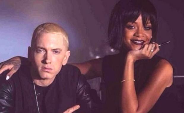 Từng hợp tác làm nhạc cực kì thân thiết là thế, cớ sao Eminem lại ủng hộ Chris Brown, đòi đấm vào mặt Rihanna thế này? - Ảnh 2.