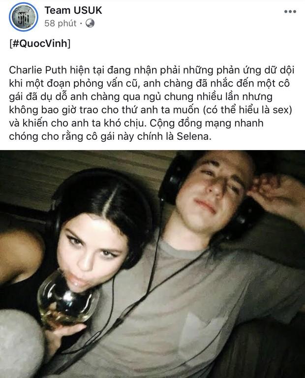 """Náo loạn tin Charlie Puth thừa nhận bị Selena Gomez lợi dụng và rủ qua đêm, ngọn nguồn được tiết lộ trong hit """"Attention""""? - Ảnh 1."""